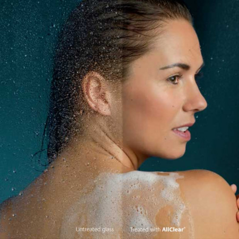 Lakes Bathrooms 1200mm Double Sculpted Bath Screen & Towel Rail