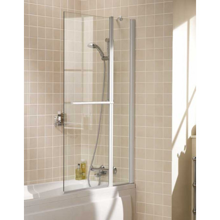 Lakes Bathrooms 944mm Double Square Shower Screen & Towel Rail