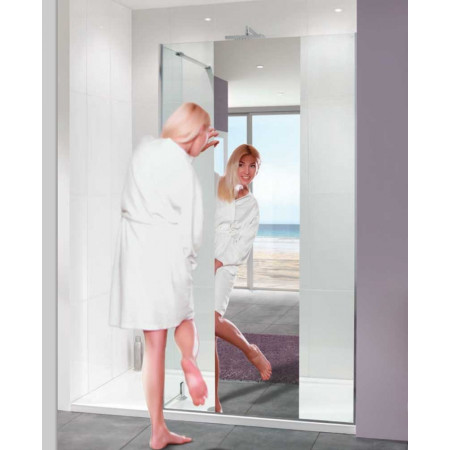 Lakes Coastline 1000mm Nice Mirror Walk In Shower Panel