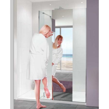 Lakes Coastline 800mm Nice Mirror Walk In Shower Panel