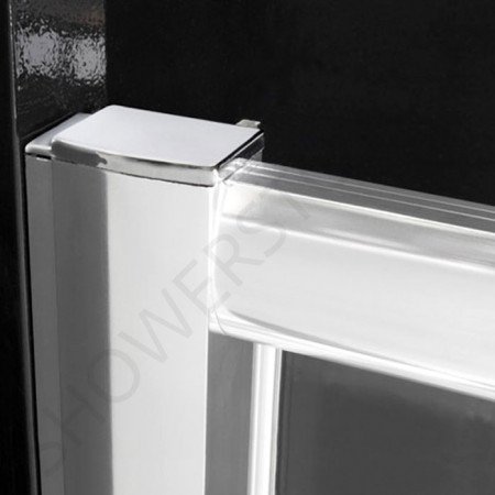 Merlyn 6 Series 1000mm Pivot Shower Door and small Inline Panel