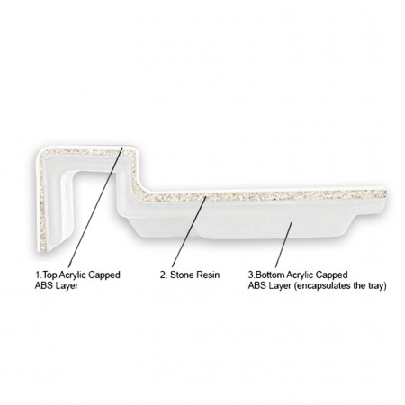 Merlyn M Stone Rectangular Tray 1700mm x 800mm