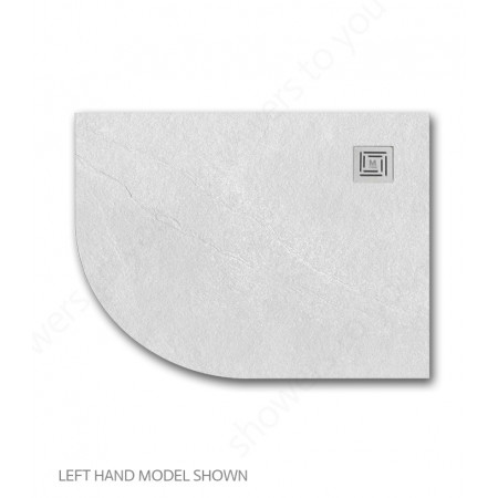 Merlyn Truestone 1200 x 900mm White Offset Quadrant Left Hand Tray 2