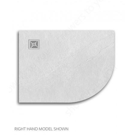 Merlyn Truestone 1200 x 900mm White Offset Quadrant Right Hand Tray 2