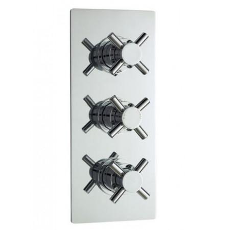 Minimalist Crosshead Triple Thermostatic Shower Valve