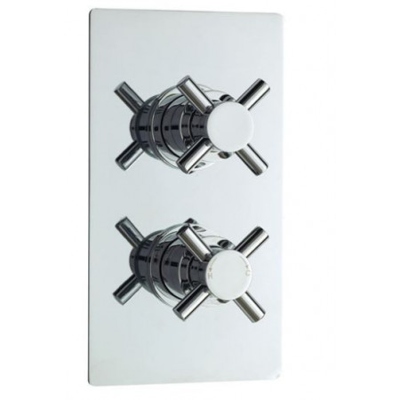 Minimalist Crosshead Twin Concealed Thermostatic Shower Valve