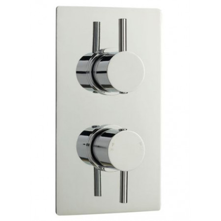 Minimalist Lever Twin Concealed Thermostatic Shower Valve