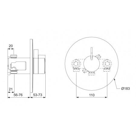 STY-Mira Miniduo & Eco Showerhead BIR (Built-in Rigid)-2