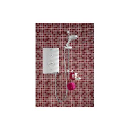 STY-Mira Sport Electric Shower 10.8kw White & Chrome-2