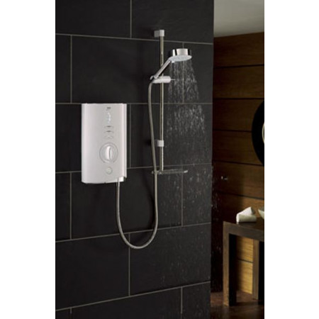 STY-Mira Sport Max 10.8KW Electric Shower White & Chrome-2