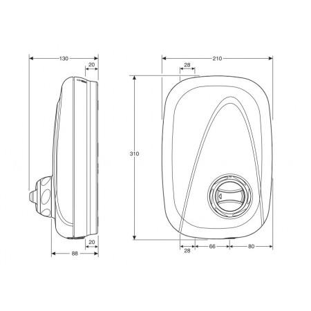 STY-Mira Vigour Power Shower Manual White & Chrome-2