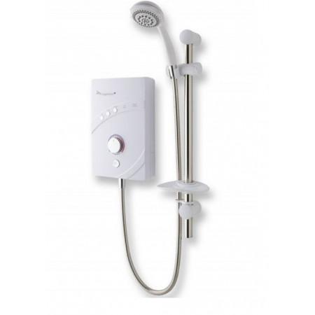 MX Inspiration QI 10.5kw white & Chrome Electric Shower