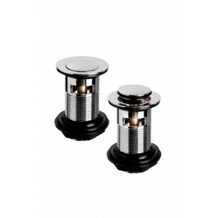 Cassellie Nero Mini Mono Basin Mixer with Push Button Waste