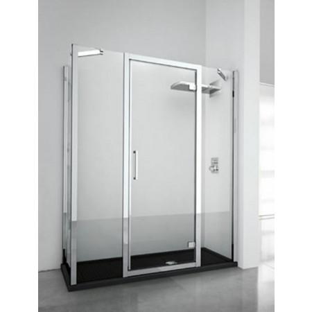 Novellini Kuadra G+2F In Line Hinged Door & 2 Panels 1560mm - 1620mm