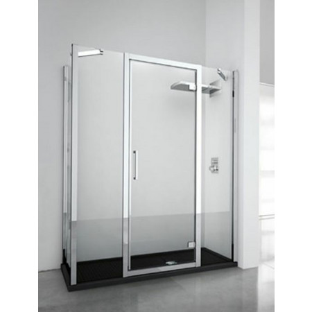 Novellini Kuadra G+2F In Line Hinged Door & 2 Panels 1620mm - 1680mm