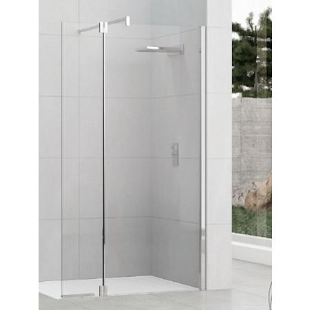 Novellini Kuadra H+HA 870-900mm Fixed Shower Panel & Pivoting Section