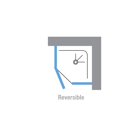 Novellini Lunes 900mm Pentagonal Shower Enclosure & Pivot shower door