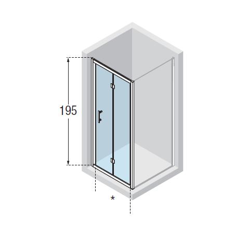 Novellini Zephyros S Folding Shower Door 860-920mm