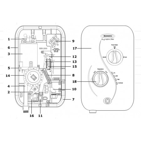 Redring Expressions 500S Shower Spares