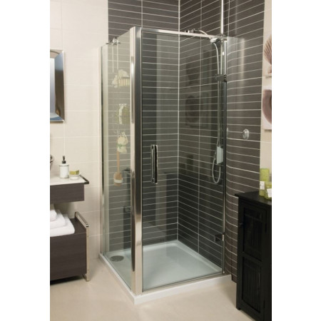 Roman 800mm Embrace Hinged Shower Door with Side Panel