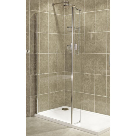 Roman Embrace 1400mm Wetroom Corner Panel Tray Installation
