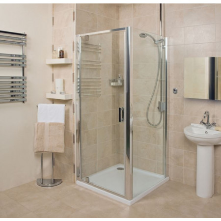 Roman Embrace 760mm Pivot Shower Door Room Setting