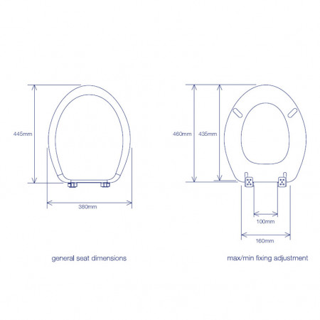 Roper Rhodes Curve Toilet Seat with Soft Close Hinges