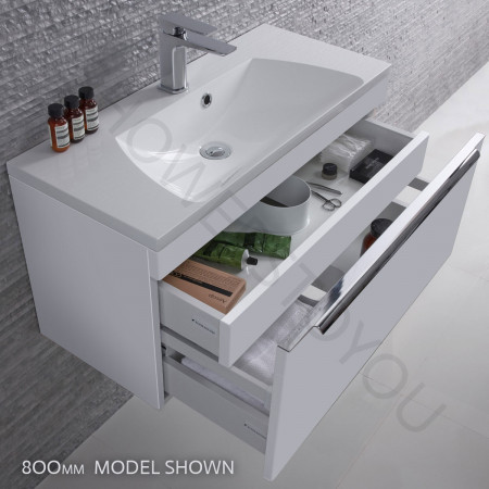Roper Rhodes Cypher 600mm Gloss White Wall Mounted Unit with Basin