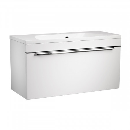 Roper Rhodes Cypher 800mm Gloss White Wall Mounted Unit with Basin