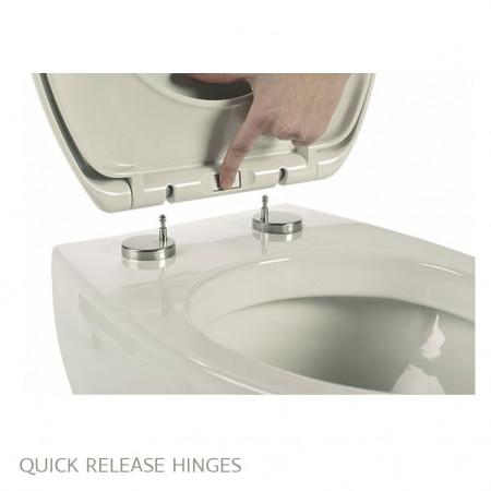 Roper Rhodes Elite Toilet Seat, Soft Close & Quick Release Hinges