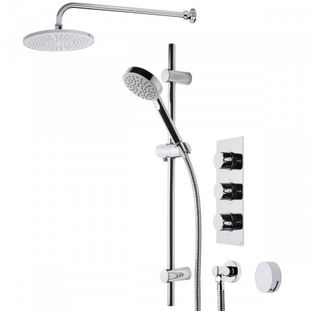 Roper Rhodes Event Round Triple Function Shower System with Bath Filler