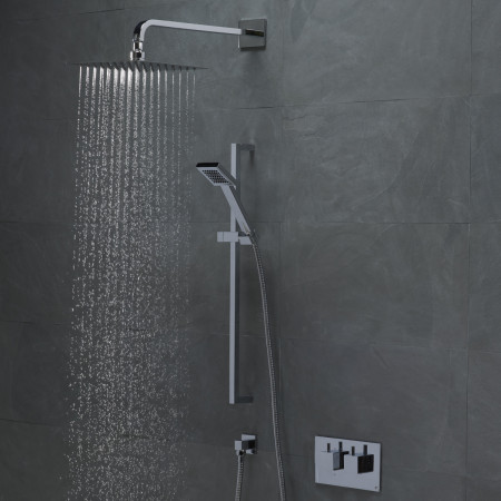 Roper Rhodes Event Square Dual Function Shower System with Fixed Shower Head