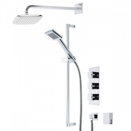 Roper Rhodes Event Square Triple Function Shower System with Bath Filler
