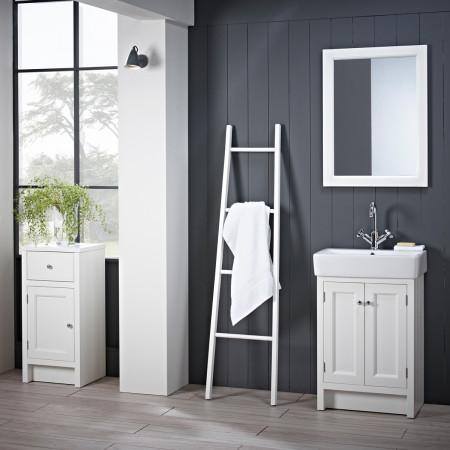 Roper Rhodes Hampton Chalk White 550mm Countertop Vanity Unit with Basin Room Setting