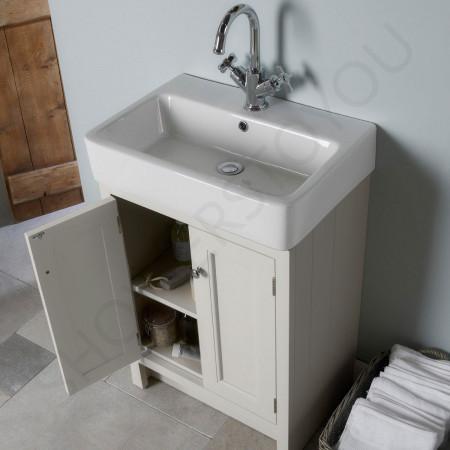 Roper Rhodes Hampton Chalk White 550mm Countertop Vanity Unit with Basin Top Down View