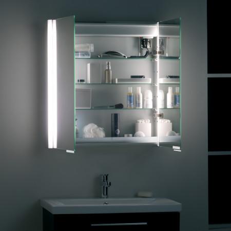 Roper Rhodes Summit Double Door Aluminium illuminated Cabinet