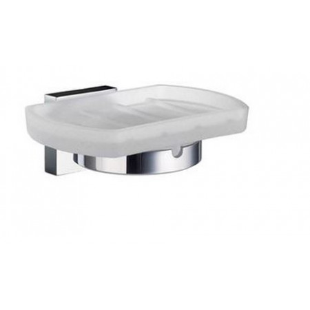Smedbo House Soap Dish Frosted Glass Dish
