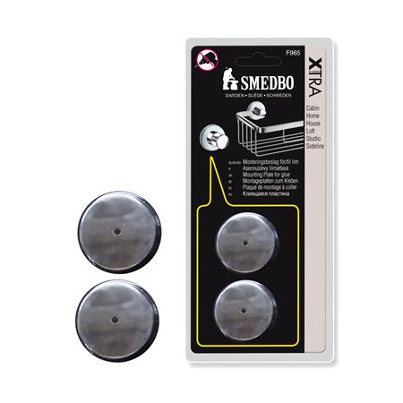 Smedbo Home Mounting Plates For Glue - Pads F965