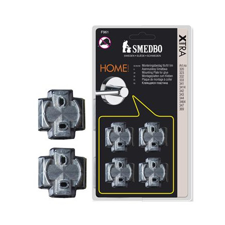 Smedbo Home Mounting Plates For Glue