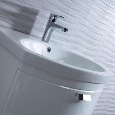 Tavistock Tempo 650mm White Gloss Wallmounted Unit with Basin