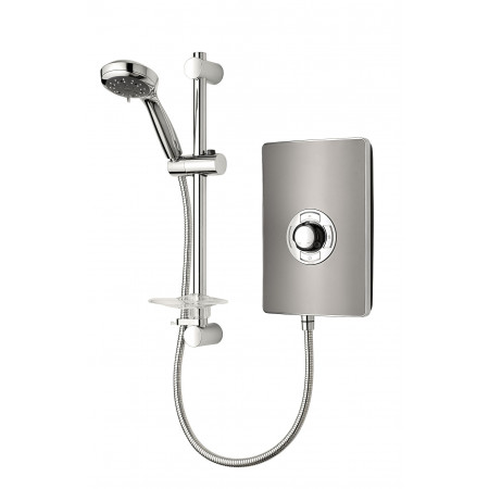 Triton Aspirante Electric Shower Gun Metal 9.5kw