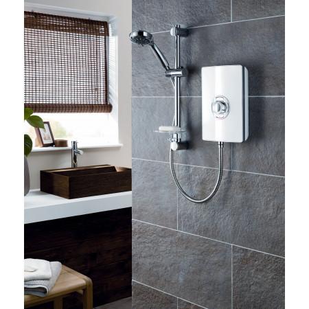 Triton Aspirante Electric Shower White Gloss 9.5kw