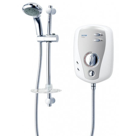 Triton T100XR Electric Shower 10.5KW White & Chrome