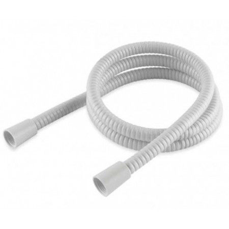 1.25m White PVC Hi-Flow Shower Hose