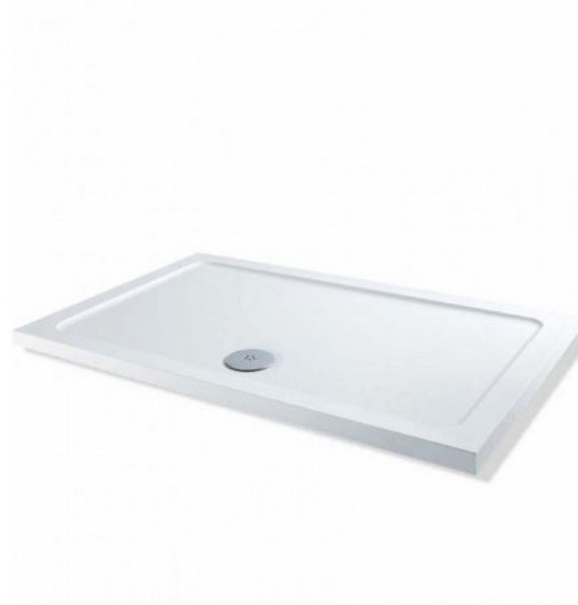 L Shaped Shower Tray Part - 36: 1000 X 700 Rectangular Shower Tray Durastone Low Profile
