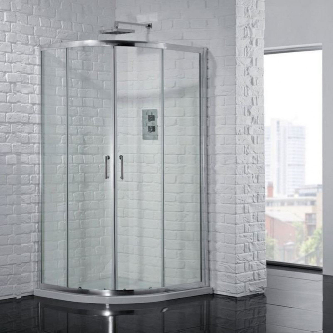 1200 X 800mm I6 Double Door Offset Quadrant Shower
