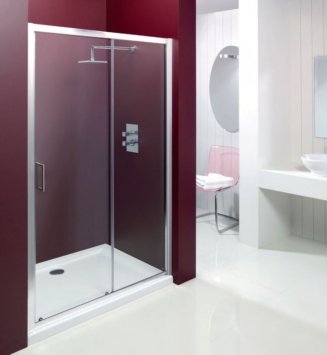 Merlyn vivid entree 1000mm sliding shower door for 1000mm shower door