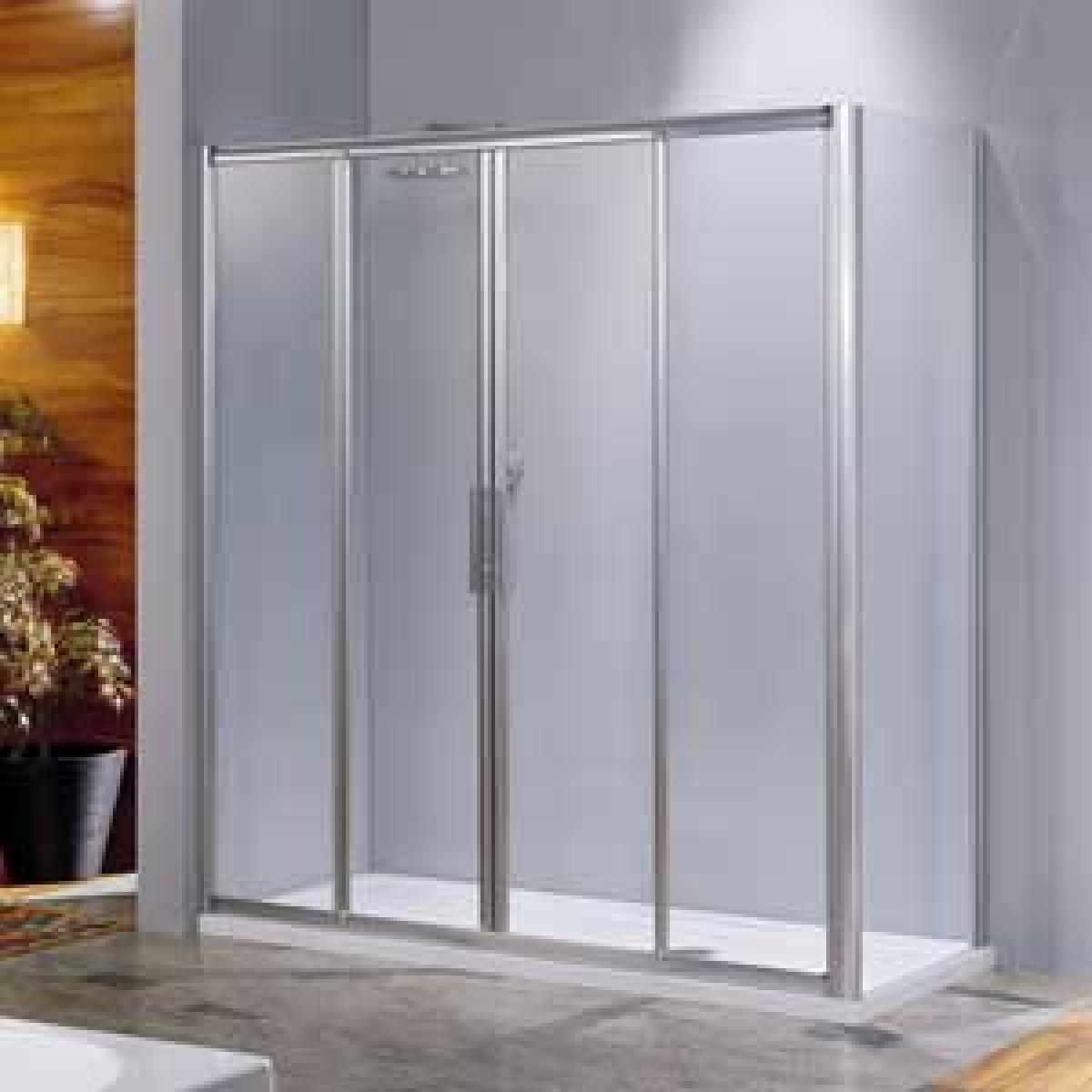 Novellini lunes 2a 1200mm four section shower doors for Novellini shower doors
