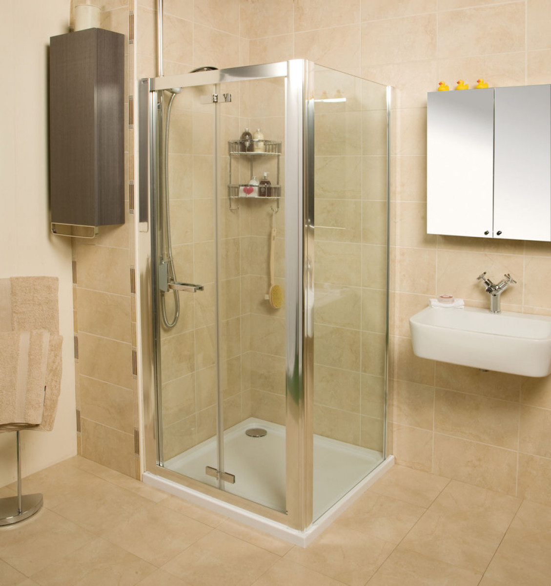 Roman Embrace 800mm Bi Fold Shower Door Ev13s