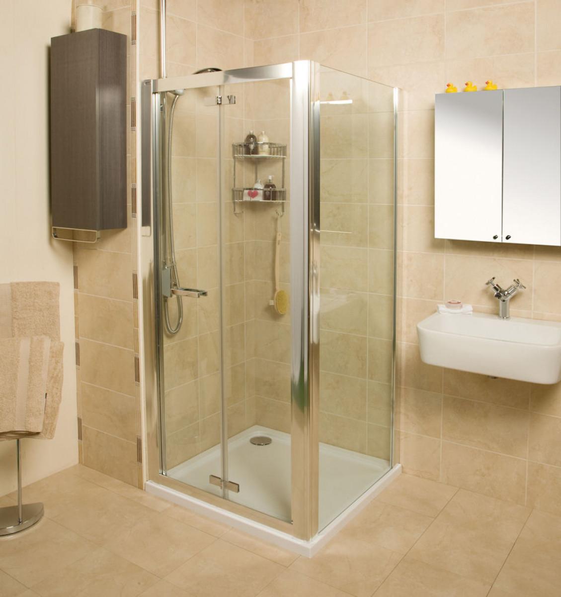 Roman embrace 900mm bi fold shower door for 1200mm bi fold shower door